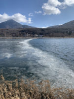 Frozen lake